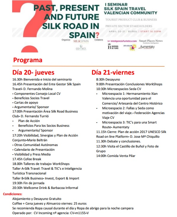 I SEMINAR SILK SPAIN TRAVEL VALENCIAN COMMUNITY